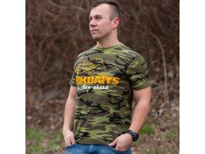 Mikbaits oblečení - Tričko Mikbaits camou XXL  + 10% sleva platná ihned po registraci pro všechny