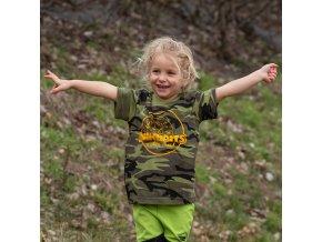 Mikbaits oblečení - Dětské tričko camou 6 - 10 let