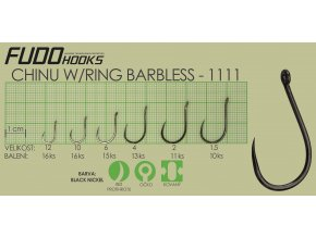 Fudo Chinu Ringed Barbless 3 (bal.12ks)