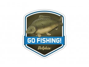 Nálepka GO FISHING!  Slevněte si produkt na 22,50 Kč za pouhou registraci na webu