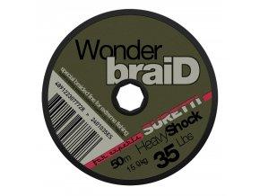 AKCE WonderbraiD Heavy Shock 40lbs 50m  + 10% sleva platná ihned po registraci pro všechny