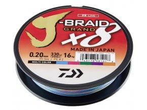 Pletená šňůra Daiwa J-Braid 8 Grand mutlibarva 150m - 0,16mm