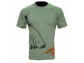 Zfish Tričko Boilie T-shirt Olive Green XXL