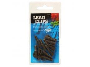 ZÁVĚS NA ZÁTĚŽKU LEAD CLIPS WITH PIN GREEN/10PC