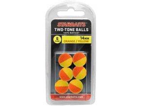 Two Tones Balls 14mm oranžová/žlužá (plovoucí kulička) 6ks