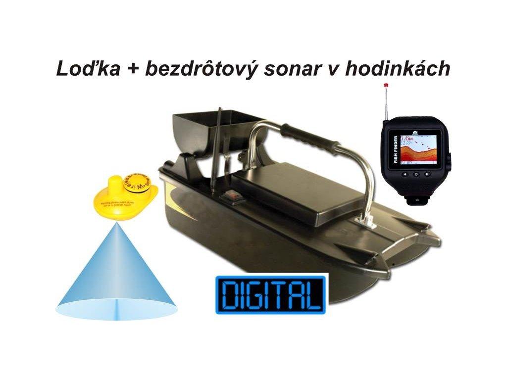 Akce Zavážecí loďka Sports a bezdrátový sonar v hodinkách