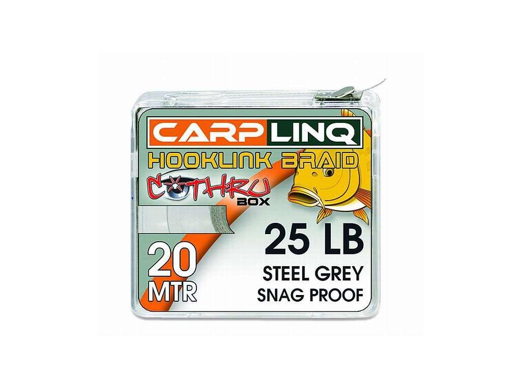 CARP LINQ Snag Proof hooklink 20m - Pitch Black