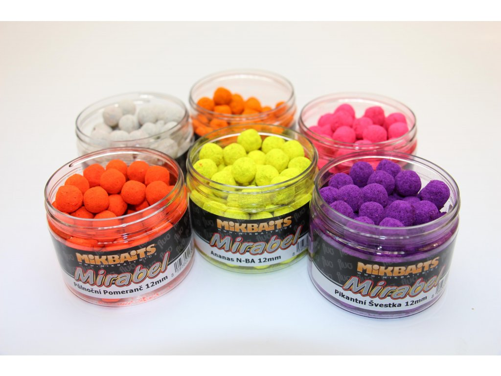 Mikbaits Mirabel Fluo boilie 150ml/12mm Fluo
