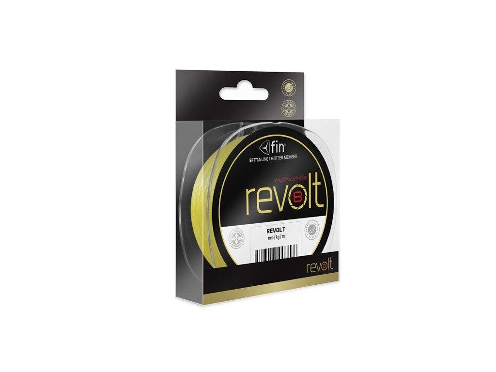 FIN šňůra Revolt 8X / fluo žlutá