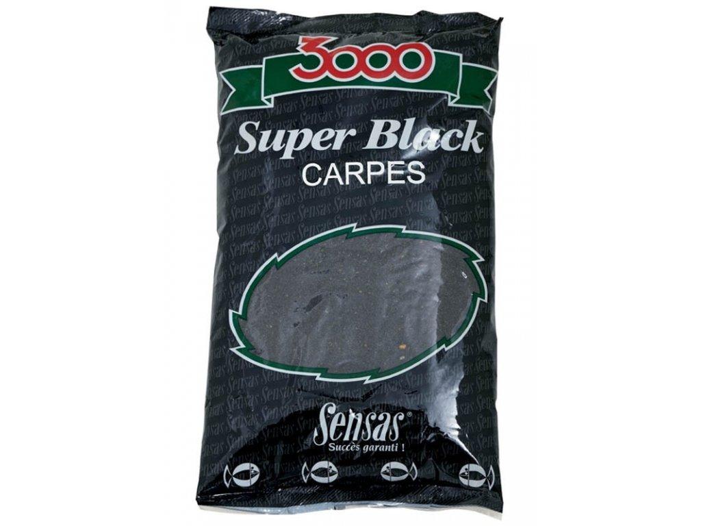 KRMÍTKOVÁ SMĚS SENSAS 3000 Super Black (Kapr-černý) 1kg