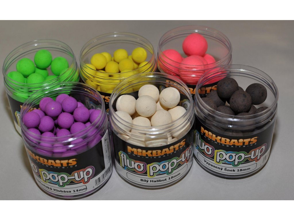 Mikbaits plovoucí fluo boilie 14mm/250ml