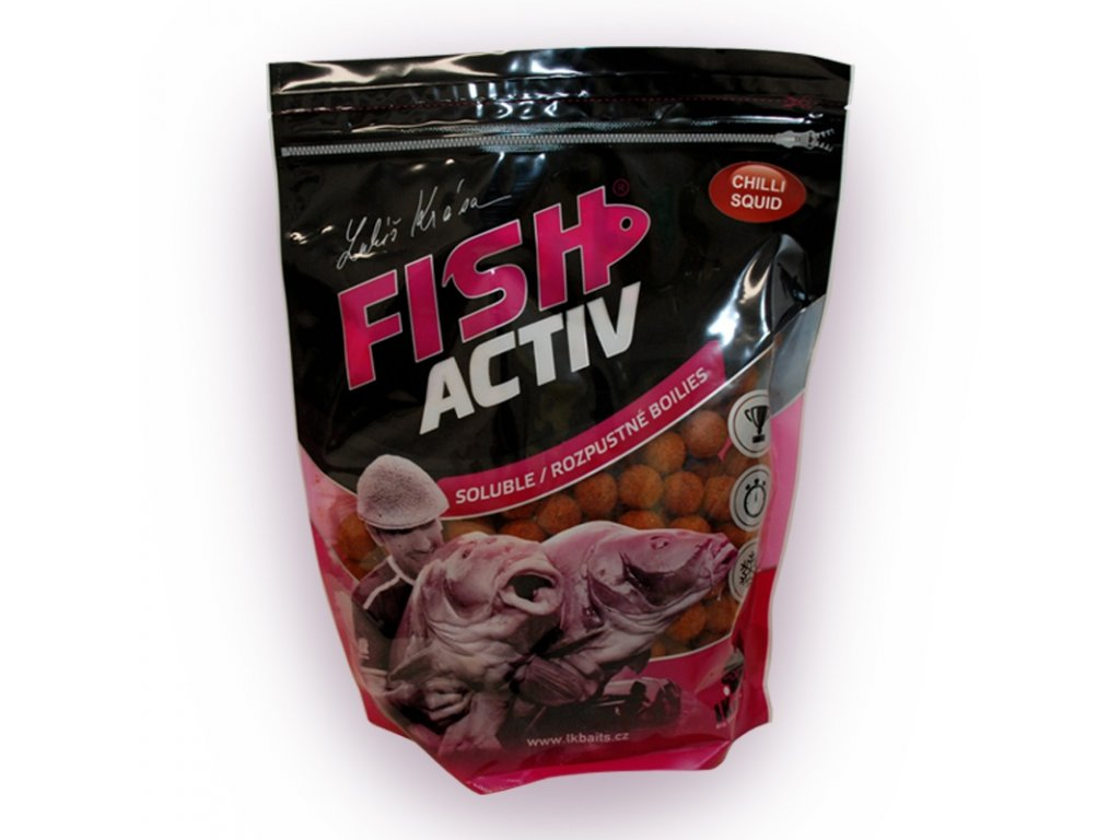 LK BAITS BOILIES FISH ACTIV CHILLI SQUID 1KG, 20MM