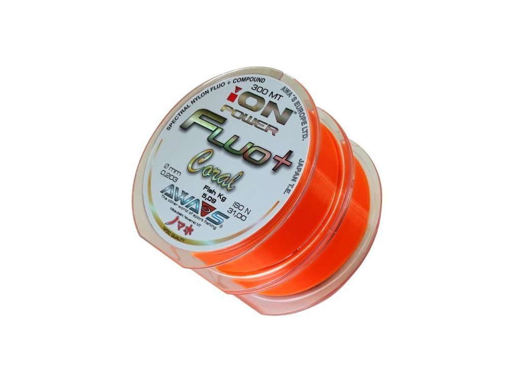 Vlasec ION POWER Fluo+ Coral - 2 x 300m