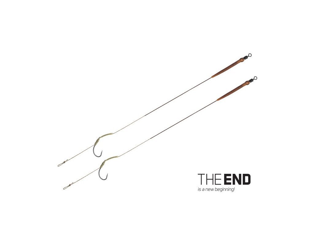 Návazce Delphin THE END Skin RIG / 2ks 20cm/25lbs/vel.4
