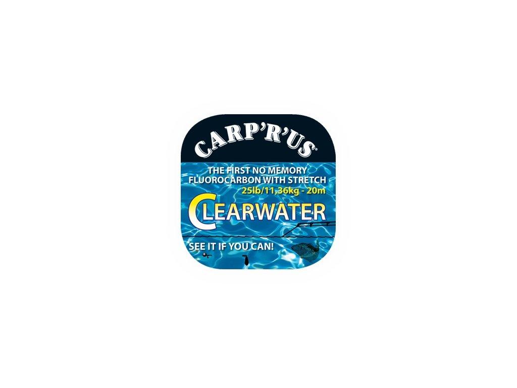 CARP ´R´ US Clearwater - návazcový fluorocarbon 25lb/20m