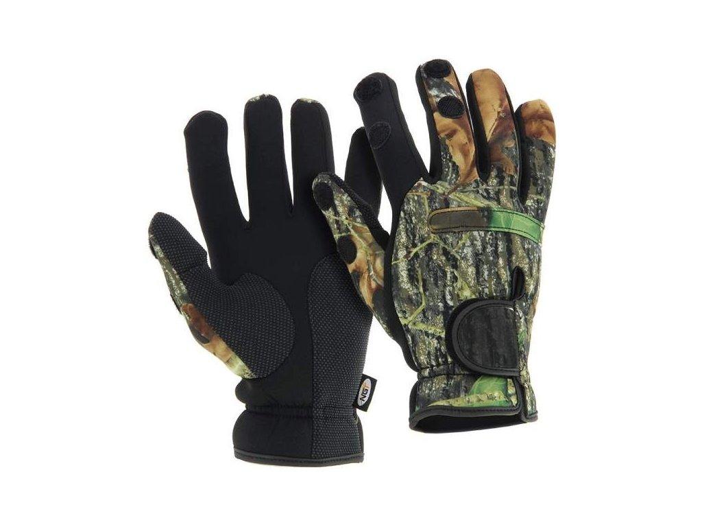 NGT Neoprén Rukavice Camo Gloves vel.XL
