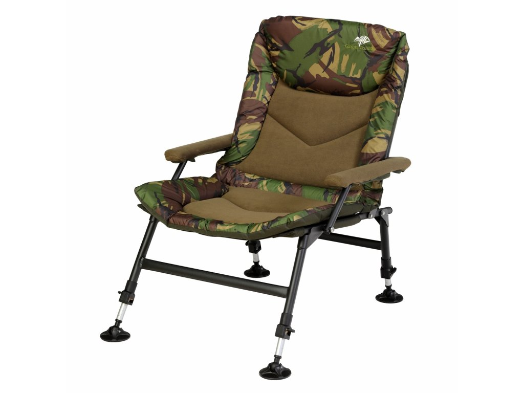 Sedačka Compact Fleece Camo Chair