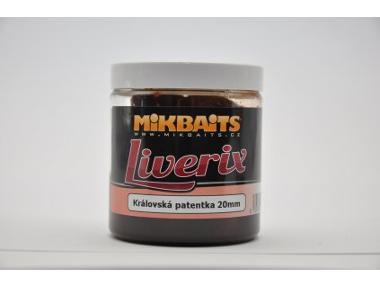 Mikbaits LiveriX boilie v dipu 20mm/250ml - Královská Patentka