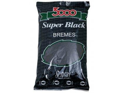 KRMÍTKOVÁ SMĚS SENSAS 3000 Super Black (Cejn-černý) 1kg