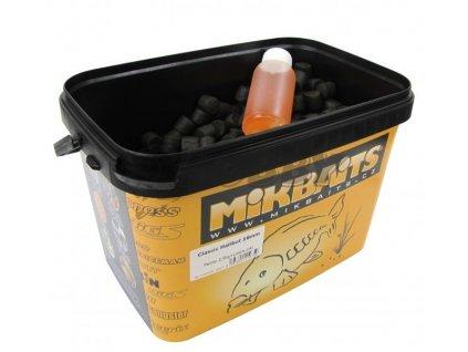Mikbaits Classic Halibut pelety 14mm 2,5kg + 100ml Lososový olej