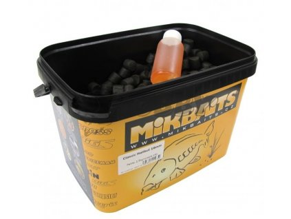 Mikbaits Classic Halibut pelety 20mm 2,5kg + 100ml Lososový olej