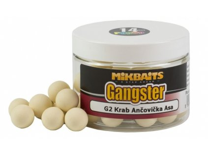 PLOVOUCÍ BOILIE MIKBAITS GANGSTER POP-UP G2 KRAB ANČOVIČKA ASA 18MM/150ML