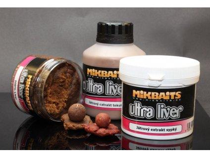 Mikbaits Ultra Liver Obalovací extrakt 1+1 (sypký+tekutý)