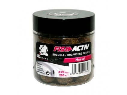 LK BAITS BOILIES FISH ACTIV MUSSEL 250ML, 20MM