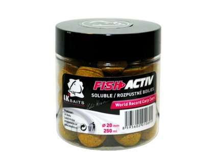 LK BAITS BOILIES FISH ACTIV WORLD RECORD CARP CORN 250ML, 20MM