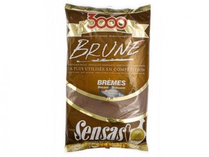 KRMÍTKOVÁ SMĚS SENSAS 3000 Brune Bremes (cejn-hnědý) 1kg