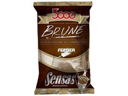 KRMÍTKOVÁ SMĚS SENSAS 3000 Brune Feeder (feeder-hnědý) 1kg