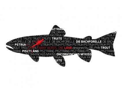 Delphin nálepka PSTRUH série Words