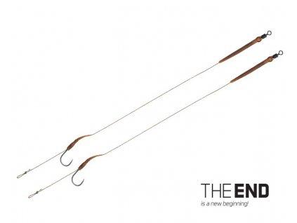 Návazce Delphin THE END Boilie rig / 2ks 20cm/25lbs/vel.6