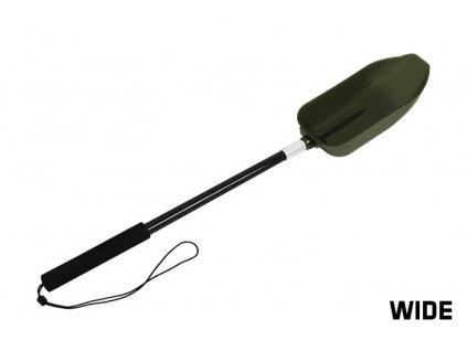 Zakrmovací  lopatka s rukojetí Delphin SHV WIDE 65/22x10cm