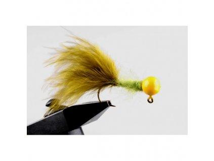 Jigstreamery Marabou 2g olivový - žlutý