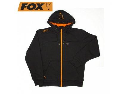 MIKINA FOX BLACK AND ORANGE HEAVY LINED HOODY