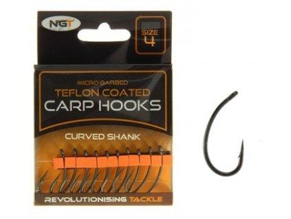 NGT Háčky Teflon Hooks Curved Shank