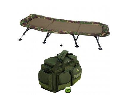 Lehátko Flat Fleece Camo XXL 8Leg + Cestovní taška Deluxe XL AKČNÍ SET