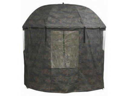 MIVARDI Kompletně zakrytý deštník PVC - Camou