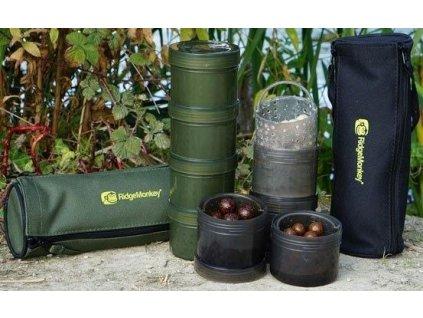 Ridge Monkey Dipovací kelímky Modular Hook Baits Pots - green