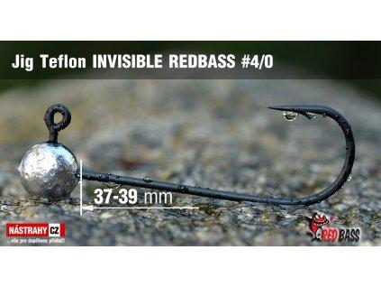 Jigová hlavička Teflon Invisible REDBASS 4