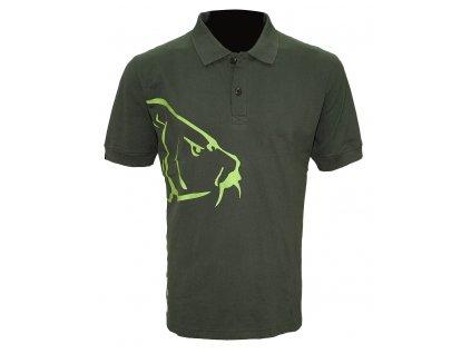 Zfish Tričko Carp Polo T Shirt Olive Green