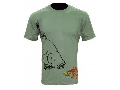 Zfish Tričko Boilie T shirt Olive Green