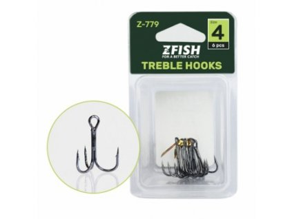 Zfish Trojháčky Treble Hooks Z 779 NEW
