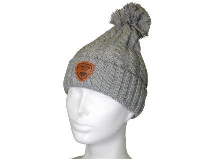 Čepice zimní Beanie Grey