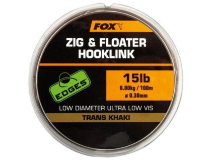 Vlasec Fox Edges Zig & Floater Hooklink Tranks Khaki 100m