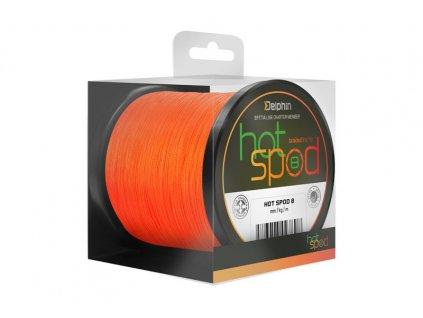 Spodová šňůra Delphin HotSPOD 8 300m/0,14mm - Oranžová
