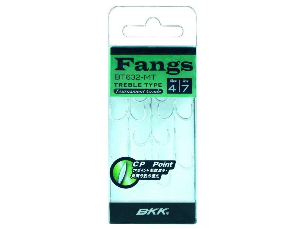 Trojháčky - BKK - FANGS 6063 2X CP - MATTE TIN / vel. 4 - 7ks