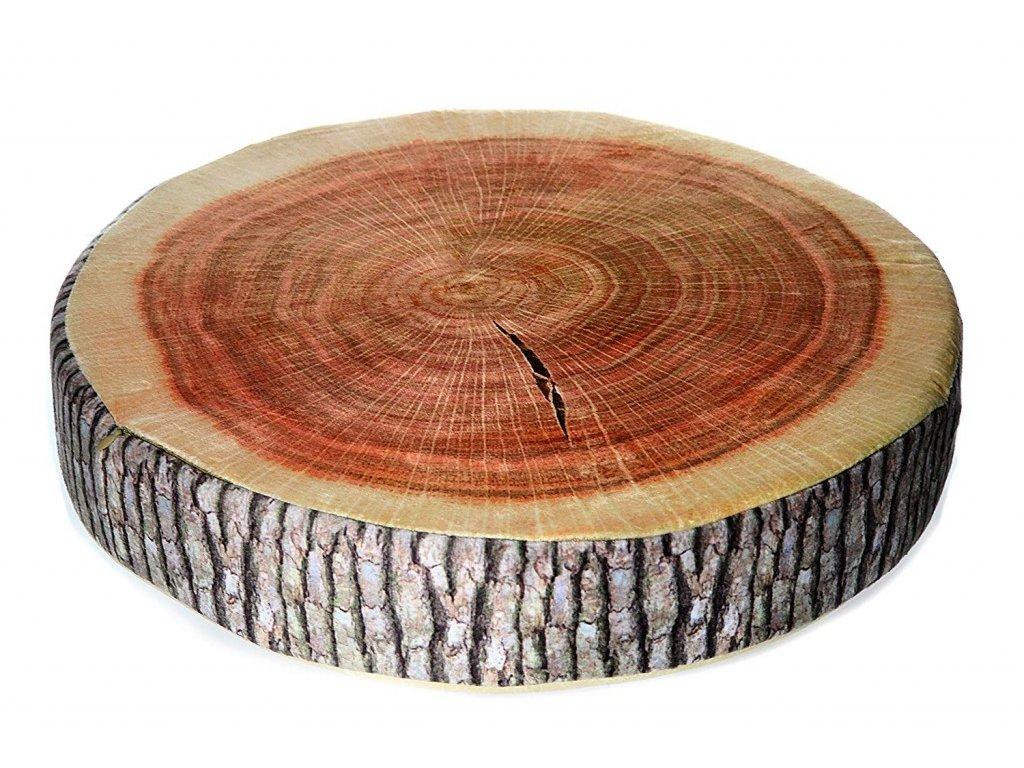 Dřevo kulaté Borovice - 40x15 cm polštářek