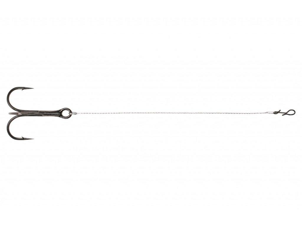 DOZBROJKA  Ocel Stinger s klipem 11cm x 14kg / trojháček č.1/0 - bal.2ks